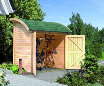 fahrradgarage aus europaletten rad spannerei. Black Bedroom Furniture Sets. Home Design Ideas