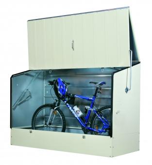Fahrradbox / Fahrradgarage Tepro Metall 196x89x133cm hellbeige Bild 1