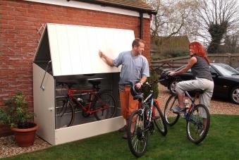Fahrradbox / Fahrradgarage Tepro Metall 196x89x133cm hellbeige Bild 2