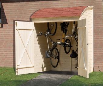 Weka Fahrradgarage / Mehrzweckbox 394 19 mm natur 175x140cm Bild 1
