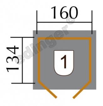 Weka Fahrradgarage / Mehrzweckbox 394 19 mm natur 175x140cm Bild 2