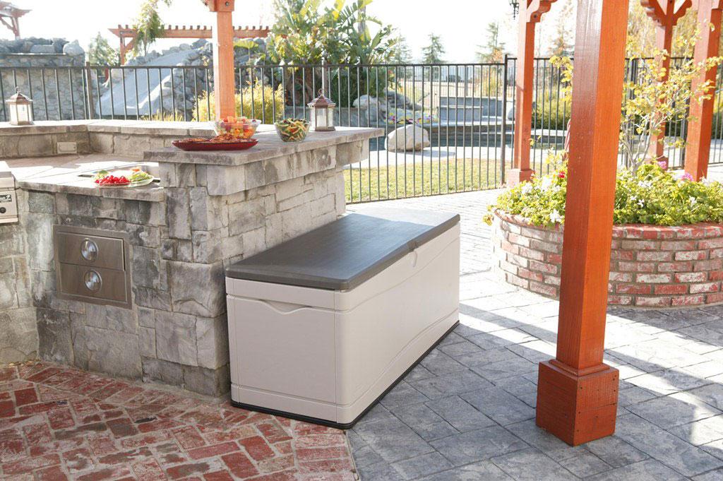 gartenbox kissenbox xxl kunststoff 150x61x68cm bei. Black Bedroom Furniture Sets. Home Design Ideas