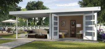 Gartenhaus 28 mm weka Designhaus 126 B Gr.2 grau 651x375cm Bild 1