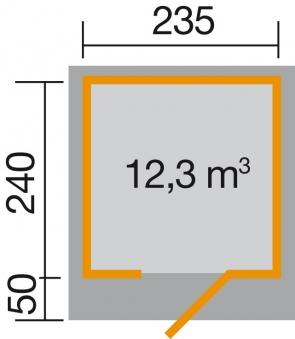 Gartenhaus 28mm weka Designhaus 172 Gr. 1 rot 280x311cm VD 50cm Bild 2