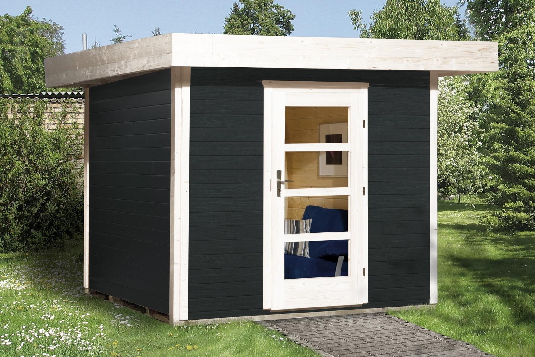 Gartenhaus 28mm weka Designhaus 172 Gr. 2 anthrazit 280x378cm VD50 Bild 1