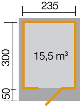 Gartenhaus 28mm weka Designhaus 172 Gr. 2 anthrazit 280x378cm VD50 Bild 2