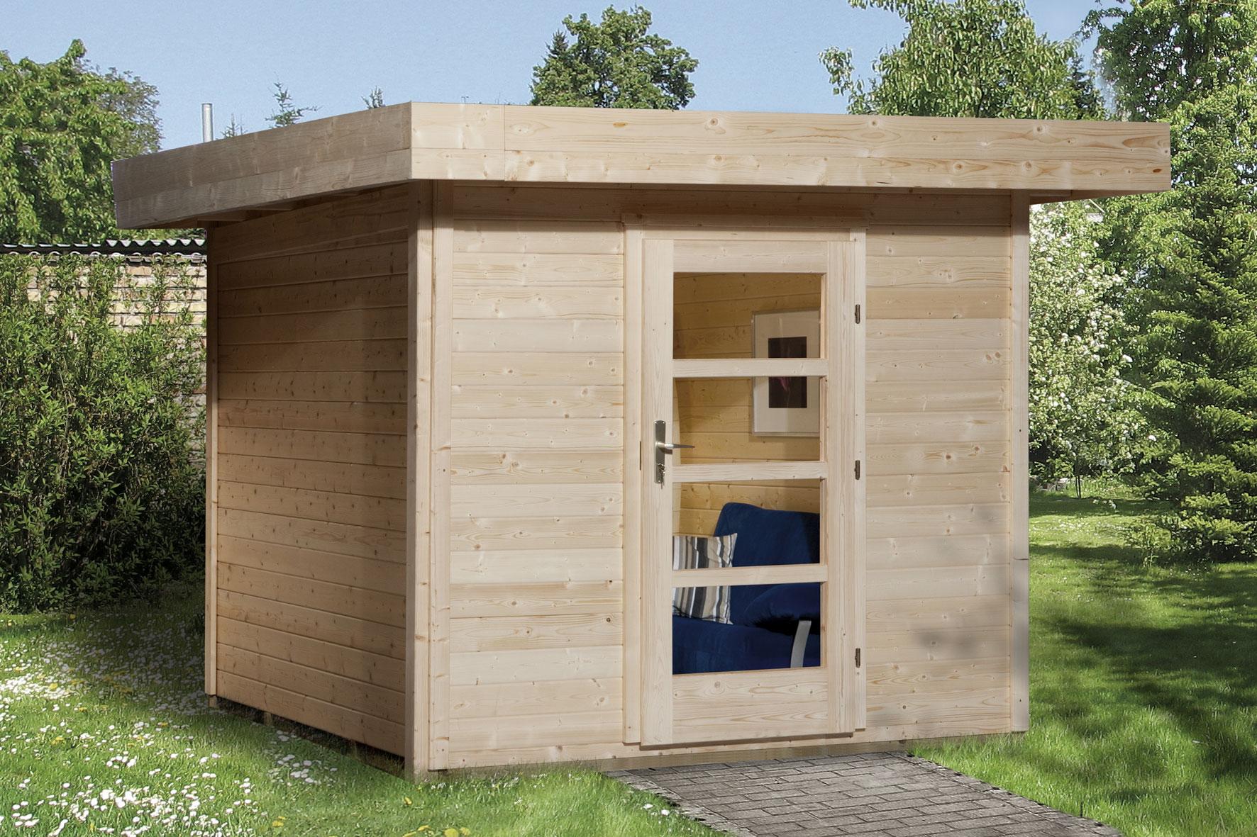 gartenhaus 28mm weka designhaus 172 gr 2 natur 280x378cm vd50cm bei. Black Bedroom Furniture Sets. Home Design Ideas