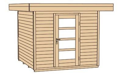 Gartenhaus 28mm weka Designhaus 172 Gr. 2 natur 280x378cm VD50cm Bild 4