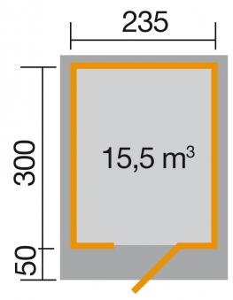 Gartenhaus 28mm weka Designhaus 172 Gr. 2 natur 280x378cm VD50cm Bild 2