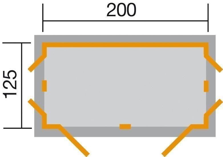 Gerätehaus / Geräteschrank Weka GartenQ Kompakt grau 210x150cm Bild 2