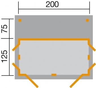 Gerätehaus / Geräteschrank Weka GartenQ Multi Gr.2 grau 210x210cm Bild 2