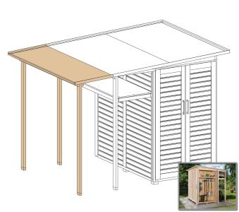 Erweiterung Family für WEKA Gerätehaus GartenQ natur 200x73cm