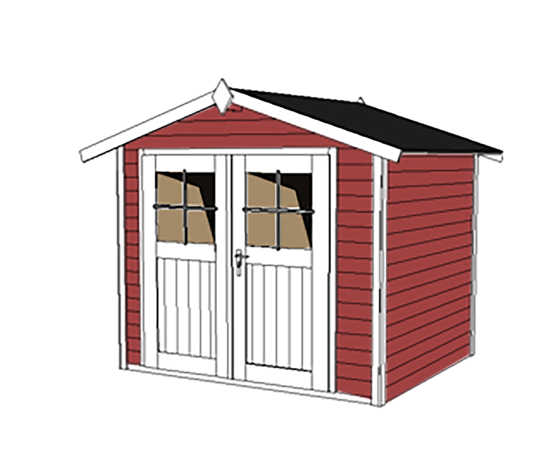 Gerätehaus Holz 28 mm Weka Gartenhaus 122 Gr.3 rot ...