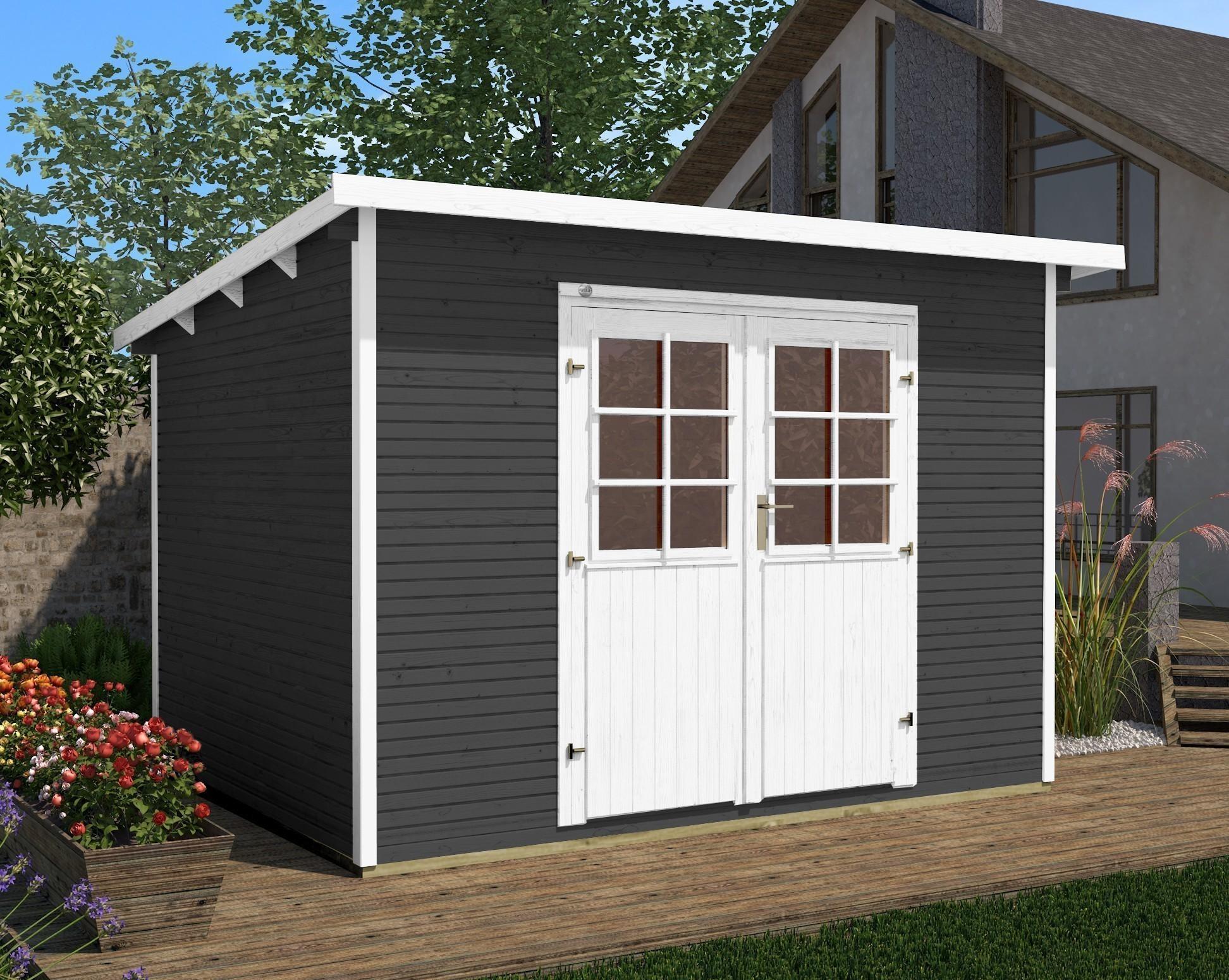ger tehaus holz 28 mm weka gartenhaus 219 gr 2 anthrazit. Black Bedroom Furniture Sets. Home Design Ideas