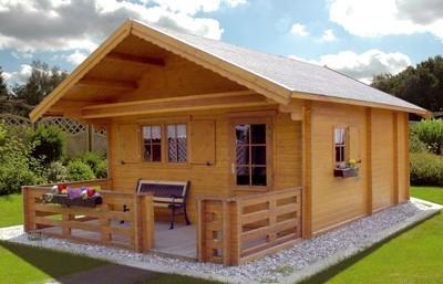 joda wochenendhaus 45 mm weekend 5 495x714cm natur bei. Black Bedroom Furniture Sets. Home Design Ideas