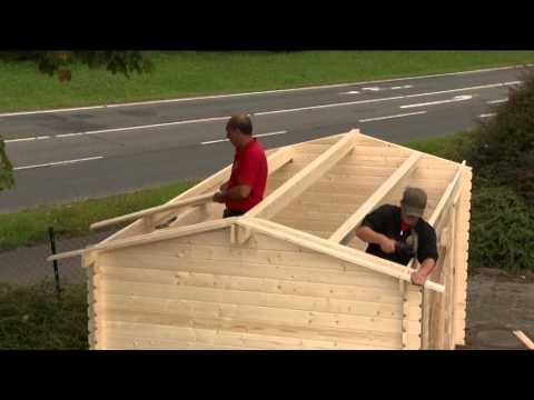 Karibu Gartenhaus 28 mm Karibu Hasselberg 457x260cm natur Video Screenshot 587