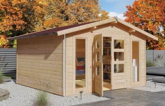 karibu gartenhaus 40mm bensburg 2 grau 434x403cm bei. Black Bedroom Furniture Sets. Home Design Ideas