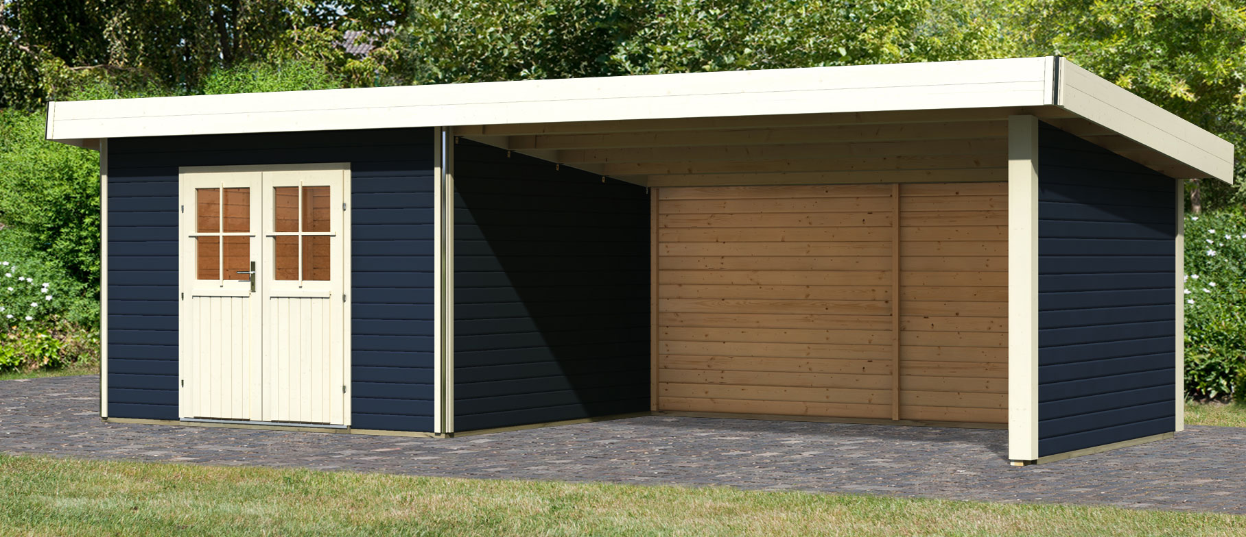 pultdach gartenhaus 40mm perfect wolff finnhaus gartenhaus rotterdam klassik x m wandstrke with. Black Bedroom Furniture Sets. Home Design Ideas