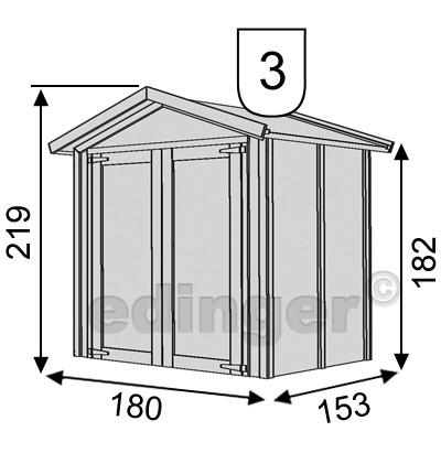 Karibu Gerätehaus 14 mm Dahme 2 natur 207x187cm Bild 2