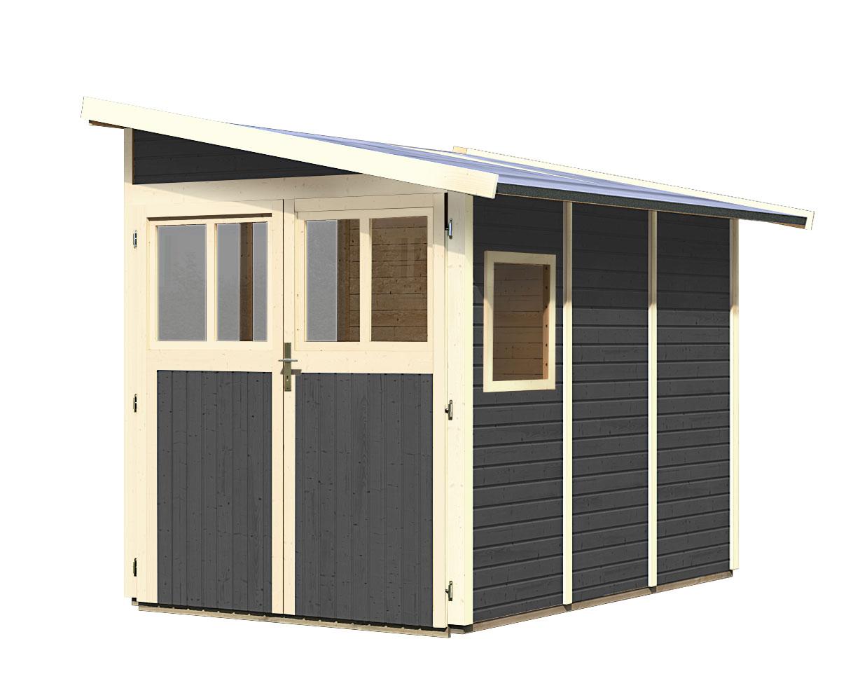 karibu ger tehaus 19 mm wandlitz 3 grau 208x320cm bei. Black Bedroom Furniture Sets. Home Design Ideas