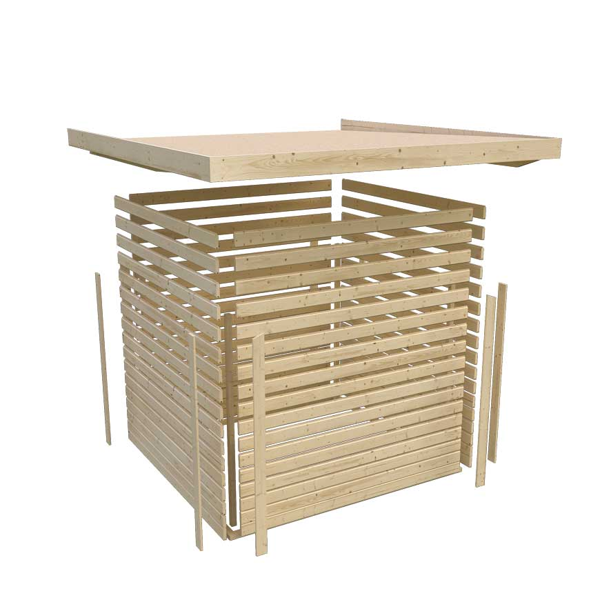 karibu ger tehaus 19 mm m hlendorf 4 terragrau 334x243cm. Black Bedroom Furniture Sets. Home Design Ideas