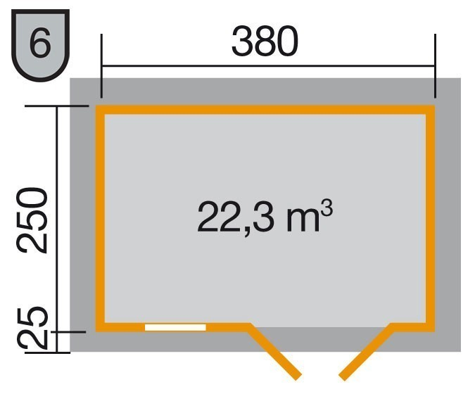 Weka Blockbohlenhaus 28 mm 163 Gr.3 natur 450x300cm Bild 2
