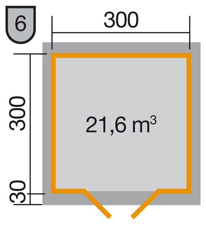 Weka Blockbohlenhaus 28 mm Gartenhaus 158 Gr. 1 natur 350x360cm Bild 2