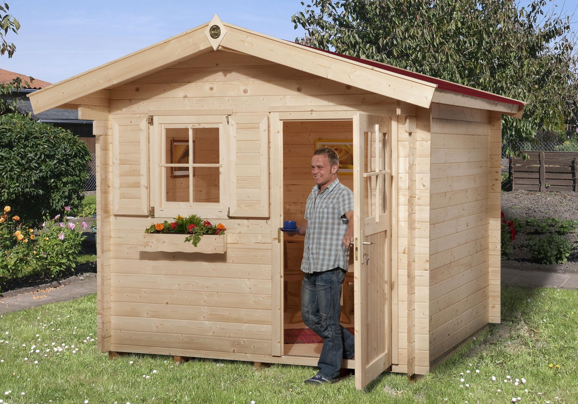 weka gartenhaus 28 mm 106a gr 1 natur 300x270cm bei. Black Bedroom Furniture Sets. Home Design Ideas