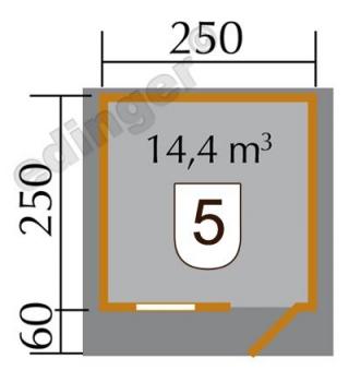 Weka Blockbohlenhaus 28 mm Gartenhaus Premium28FT VD60cm 300x320cm Bild 2