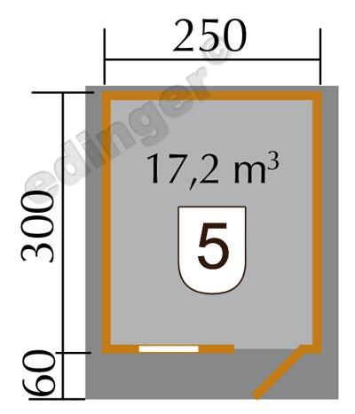Weka Blockbohlenhaus 28 mm Gartenhaus Premium28FT VD60cm 300x370cm Bild 2