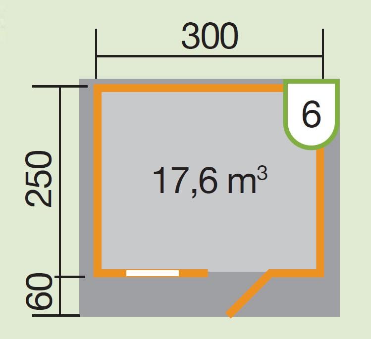 Weka Blockbohlenhaus 28 mm Gartenhaus Premium28FT VD60cm 380x320cm Bild 2