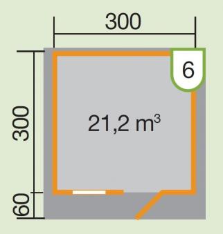 Weka Blockbohlenhaus 28 mm Gartenhaus Premium28FT VD60cm 380x370cm Bild 2