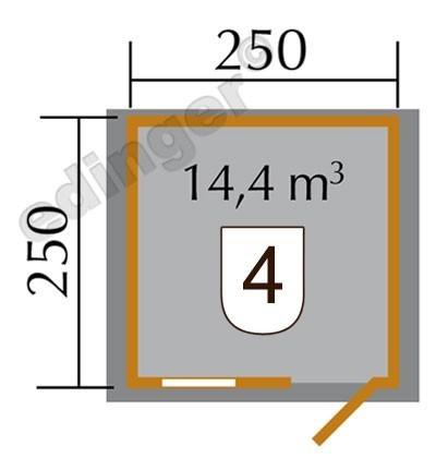 Weka Blockbohlenhaus 28 mm Gartenhaus Premium28FT natur 300x280cm Bild 2