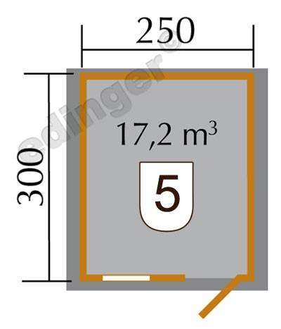 Weka Blockbohlenhaus 28 mm Gartenhaus Premium28FT natur 300x330cm Bild 2