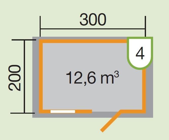 Weka Blockbohlenhaus 28 mm Gartenhaus Premium28FT natur 380x230cm Bild 2