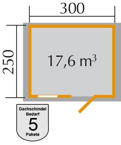 Weka Blockbohlenhaus 28 mm Gartenhaus Premium28FT natur 380x280cm Bild 2