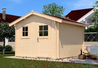 Weka Blockbohlenhaus 28 mm Gartenhaus Premium28FT natur 380x280cm Bild 1