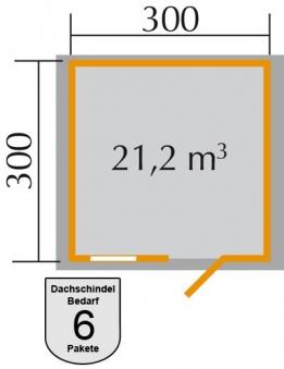 Weka Blockbohlenhaus 28 mm Gartenhaus Premium28FT natur 380x330cm Bild 2