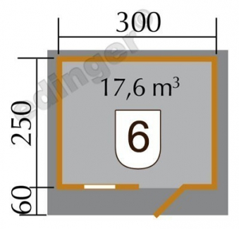 Weka Blockbohlenhaus 45 mm 131 Gr.2 natur 380x320cm Bild 2