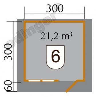 Weka Blockbohlenhaus 45 mm 139A Gr.2 natur 380x370cm Bild 2
