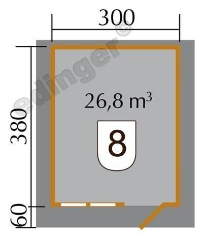 Weka Blockbohlenhaus 45 mm 139A Gr.3 natur 380x450cm Bild 2