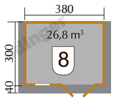 Weka Blockbohlenhaus 45 mm 152 Gr. 1 natur 450x380cm Bild 2