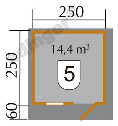 Weka Blockbohlenhaus 45 mm Gartenhaus 131 Gr. 1 natur 300x320cm Bild 2