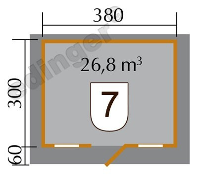 Weka Blockbohlenhaus 45 mm Gartenhaus 135 Gr. 1 natur 460x370cm Bild 2