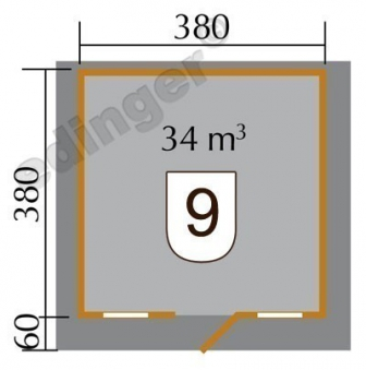 Weka Blockbohlenhaus 45 mm Gartenhaus 135 Gr.2 natur 460x450cm Bild 2