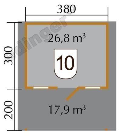 Weka Blockbohlenhaus 45 mm Gartenhaus 135A Gr.1 460x510cm Vordach Bild 2