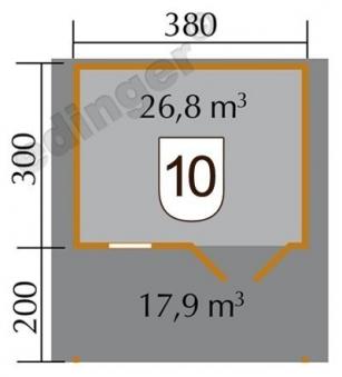 Weka Blockbohlenhaus 45 mm Gartenhaus 136A Gr. 1 natur 460x510cm Bild 2
