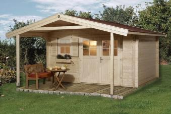 Weka Blockbohlenhaus 45 mm Gartenhaus 136A Gr.2 natur 460x590cm Bild 1