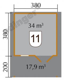 Weka Blockbohlenhaus 45 mm Gartenhaus 136A Gr.2 natur 460x590cm Bild 2
