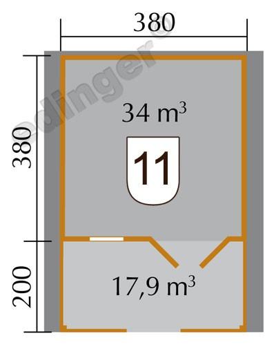 Weka Blockbohlenhaus 45 mm Gartenhaus 136B Gr. 2 natur 460x590cm Bild 2